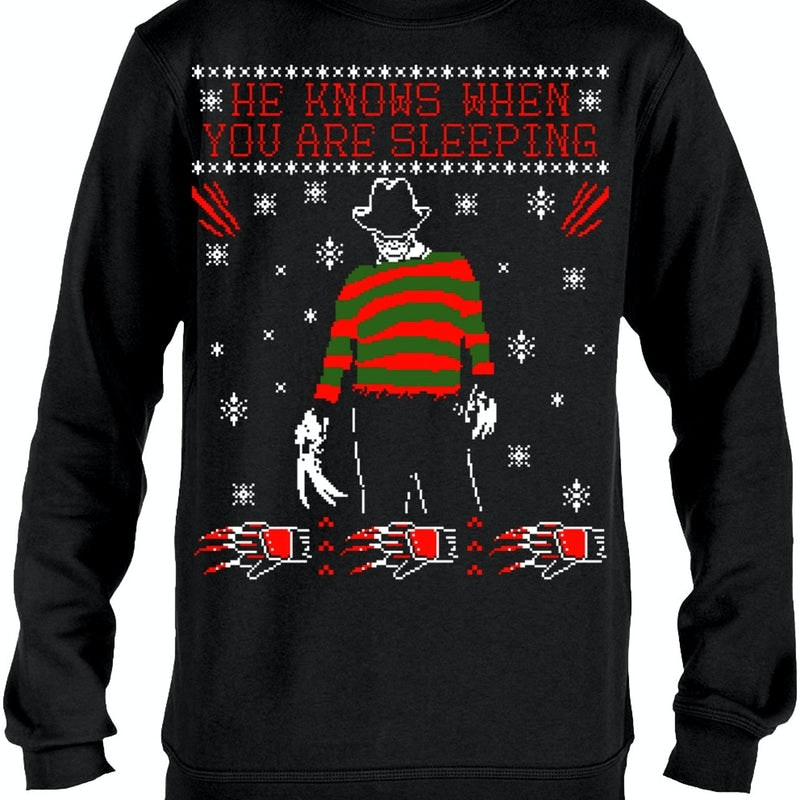 Freddy Krueger Christmas Sweater Nightmare On Elm Street Sweatshirt