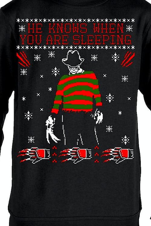 Freddy Krueger Christmas Sweater Nightmare On Elm Street Sweatshirt